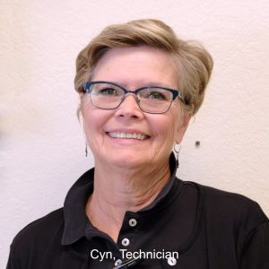 Cyn female pharmacy technician