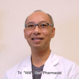 Will, male staff pharmacist